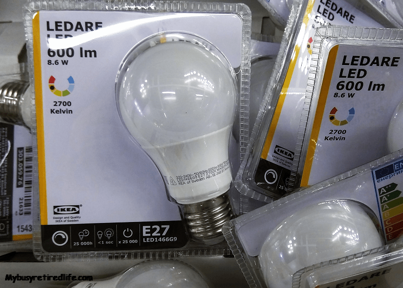 Choosing LED Bulbs and You · My Busy Retired Life