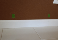 studs marked with masking tape